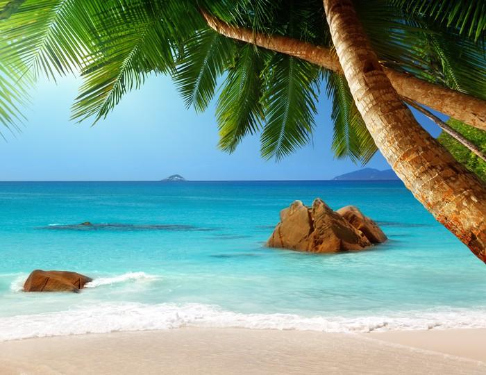 Vinylová Tapeta Anse Lazio Beach na ostrově Praslin na Seychelách - Voda
