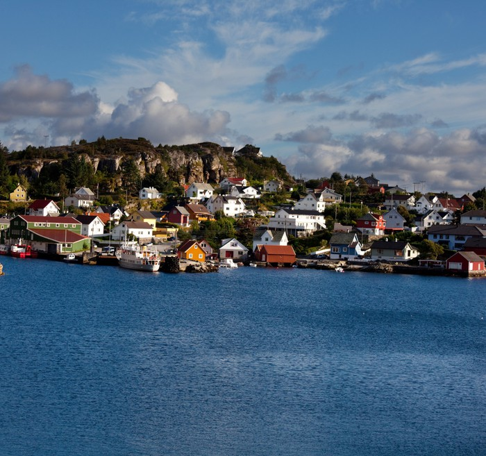 Vinylová Tapeta Norsko krajiny - Voda