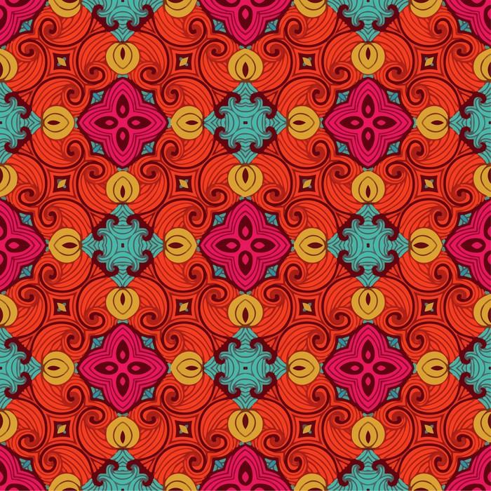 Vinylová Tapeta Barevné pattern_4 - Pozadí