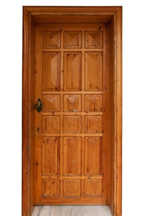 sticker panneau de porte en bois isol sur fond blanc pixers nous vivons pour changer. Black Bedroom Furniture Sets. Home Design Ideas
