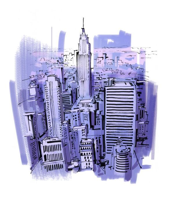 Vinylová Tapeta New york - Nálepka na stěny