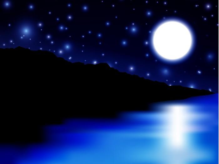 Vinylová Tapeta Měsíc nad moře a ostrov - Ostrovy