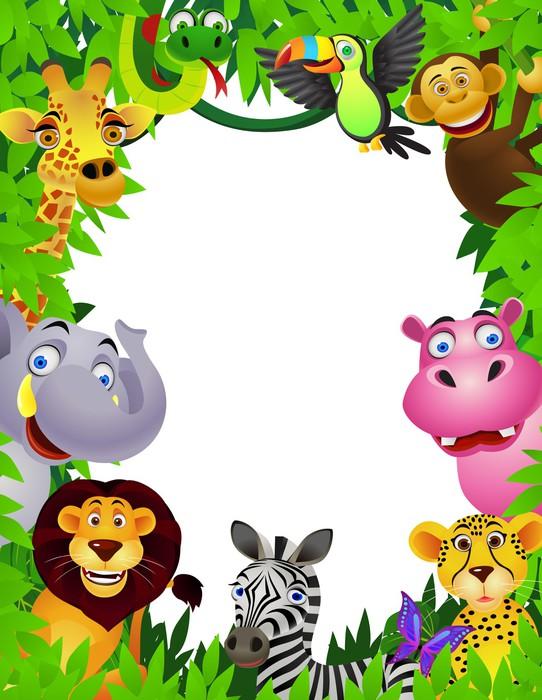Carta da parati safari animali cartone animato pixers