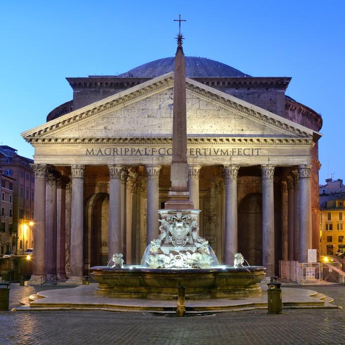 Carta da parati pantheon roma pixers viviamo per il for Carta da parati roma
