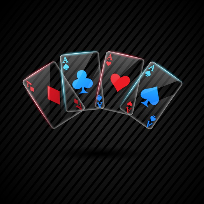 Four Glass Poker Aces Playing Cards Illustration