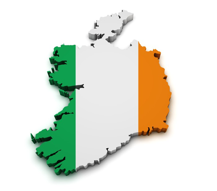 Ireland flag map shape wall decal pixers we live to change ireland flag map shape wall decal europe gumiabroncs Images