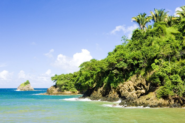 Vinylová Tapeta Západní pobřeží Tobago - Amerika