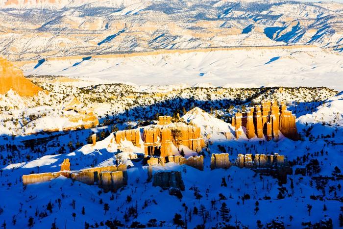 Vinylová Tapeta Národní park Bryce Canyon v zimě, Utah, USA - Amerika