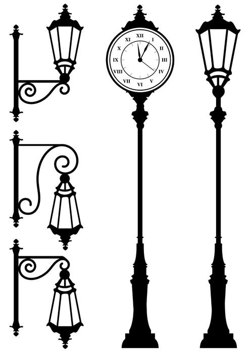 fototapeta zabytkowe latarnie i zegar � pixers174 � Żyjemy