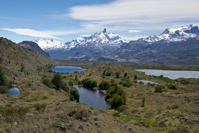 Vinylová Tapeta Jezer a Andes z Estancia Cristina - Témata