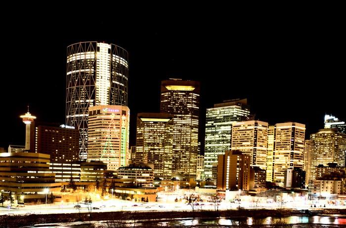 Vinylová Tapeta Noční záběry Calgary Alberta Kanada - Jiné