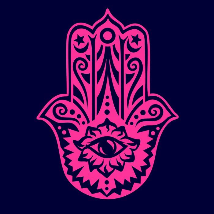 Vinylová fototapeta Hamsa - Hand of Fatima - Ochrana Amulet, Symbol štěstí a sílu - Vinylová fototapeta