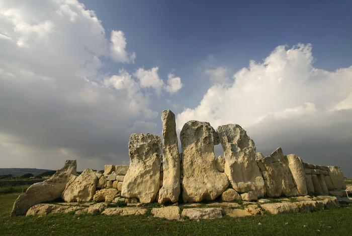 Papier Peint à Motifs Vinyle Temples mégalithiques de Hagar Qim, un site de l'UNESCO à Malte - Europe