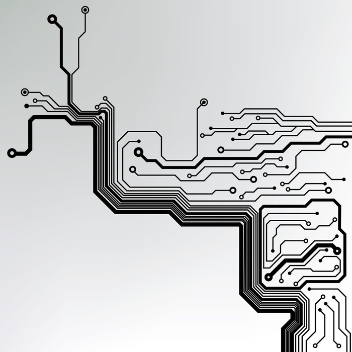 abstract technology circuit board vector background Wall Mural ...