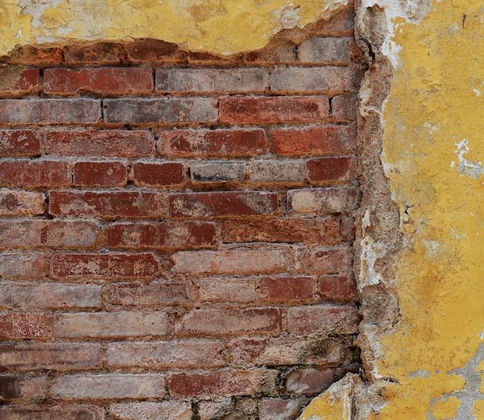 papier peint mur briques anciennes pixers nous vivons. Black Bedroom Furniture Sets. Home Design Ideas