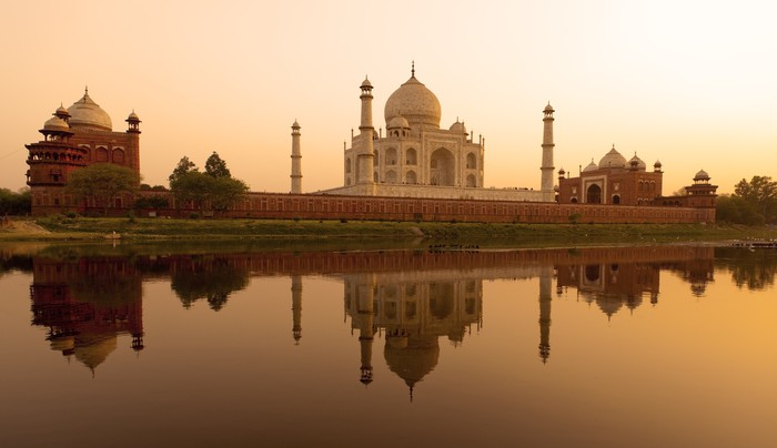Vinylová Fototapeta Taj Mahal západ slunce - Vinylová Fototapeta