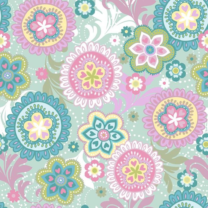 papier peint pastel fond floral ethnique pixers nous. Black Bedroom Furniture Sets. Home Design Ideas