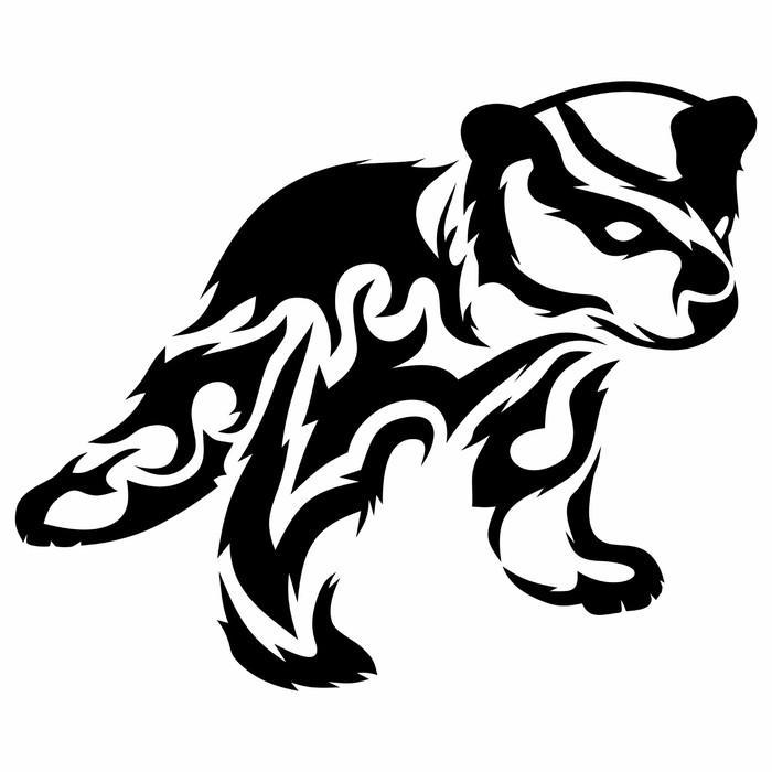 Vinylová Tapeta Tribal medvídě / vector tetování - Savci