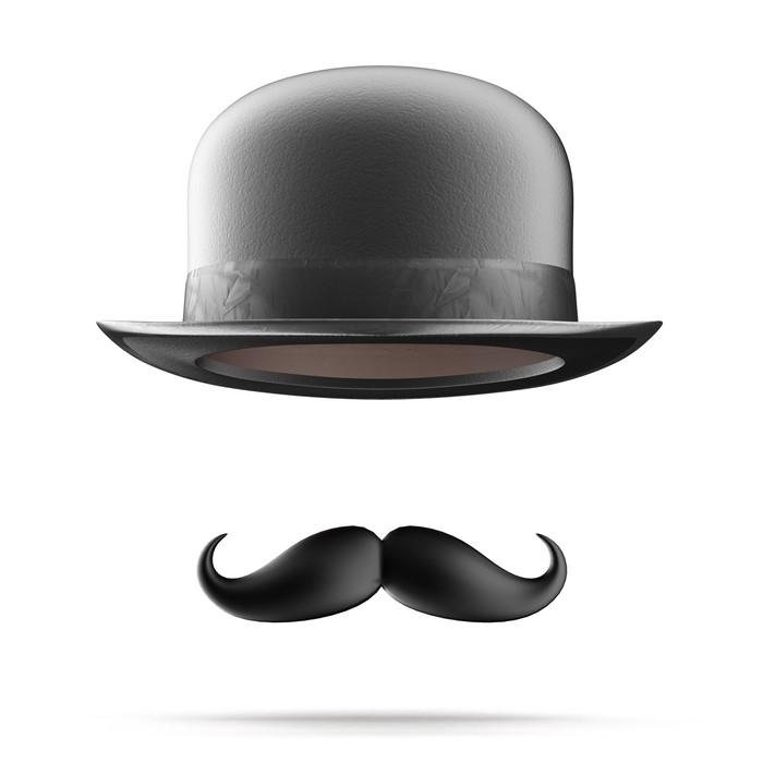 sticker chapeau melon et moustaches pixers nous vivons pour changer. Black Bedroom Furniture Sets. Home Design Ideas