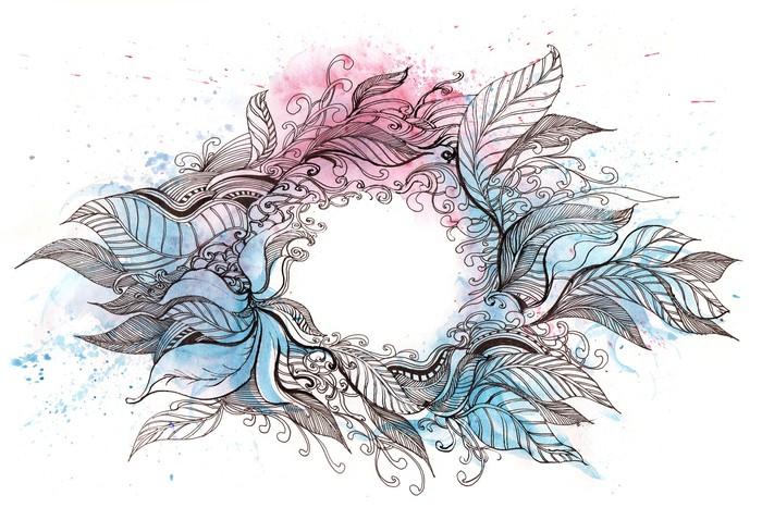 Vinylová Tapeta Wreath - Přírodní krásy