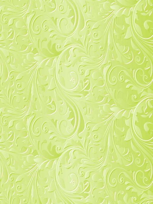 Vinylová Tapeta Krásné zelené květinové pozadí - Témata