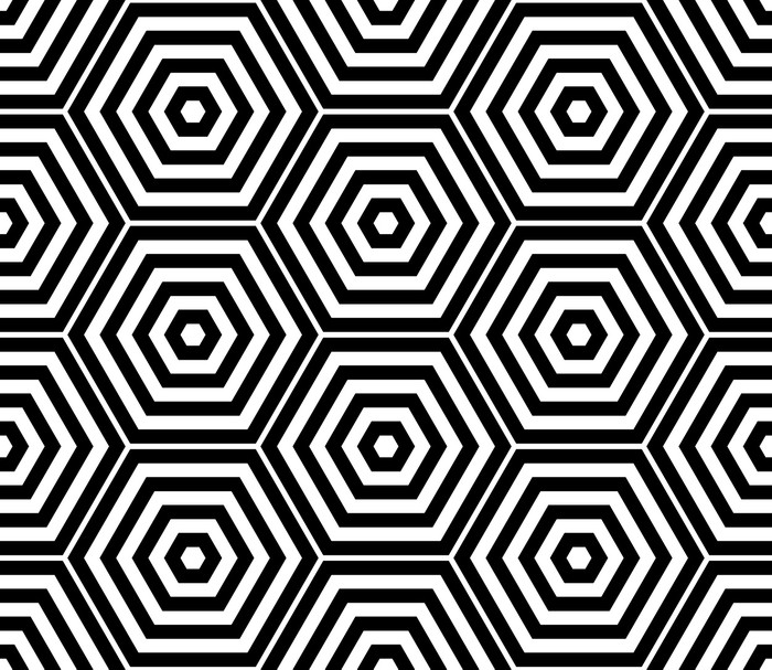 papier peint hexagone noir et blanc seamless pixers. Black Bedroom Furniture Sets. Home Design Ideas