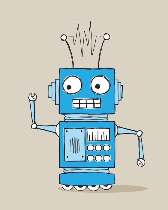 Quadro su tela cartone animato robot pixers viviamo