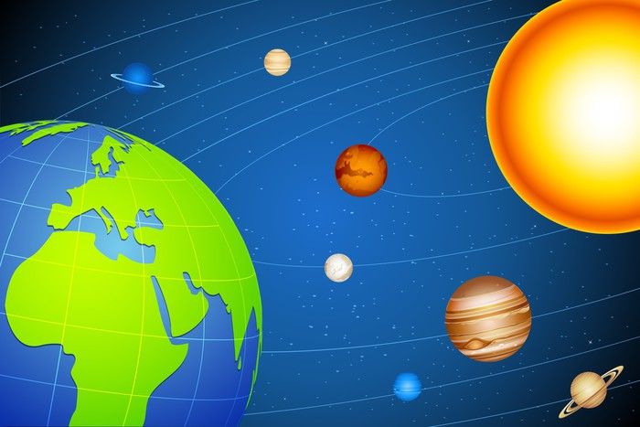 Vinylová Tapeta Sluneční soustava - Meziplanetární prostor