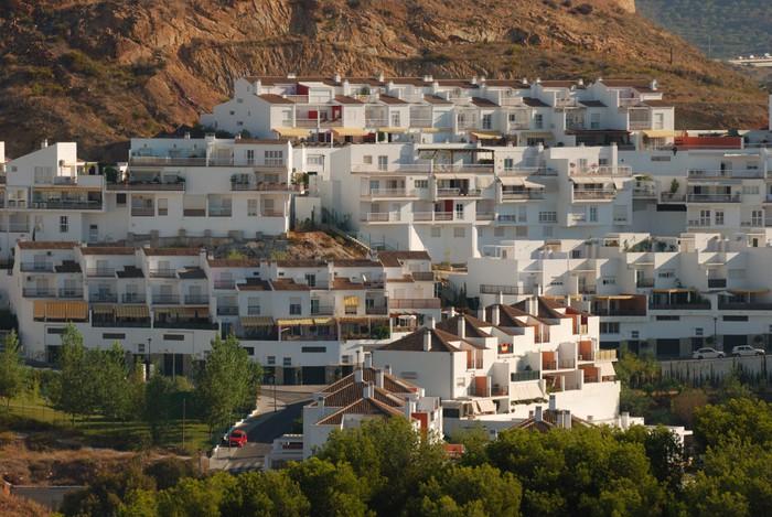 Vinylová Tapeta Tradiční španělský bílé domy v Malaga, Španělsko - Témata
