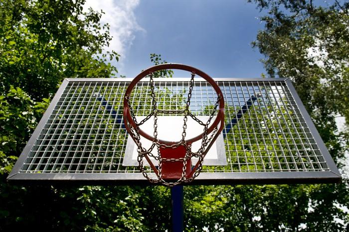 Vinylová Tapeta Koš pro hraní basketbalu - Sportovní potřeby