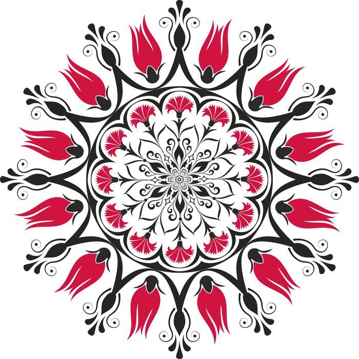 papier peint traditionnel ottoman tulipe et oeillet pixers nous vivons pour changer. Black Bedroom Furniture Sets. Home Design Ideas