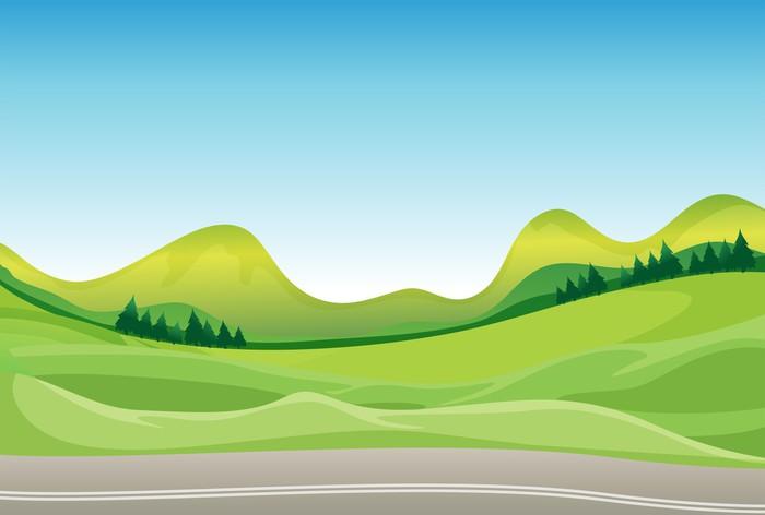 Papel pintado un camino y un hermoso paisaje pixers - Papel pintado paisaje ...