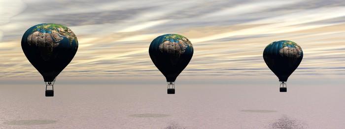 Vinylová Tapeta Horkovzdušný balón - Nebe