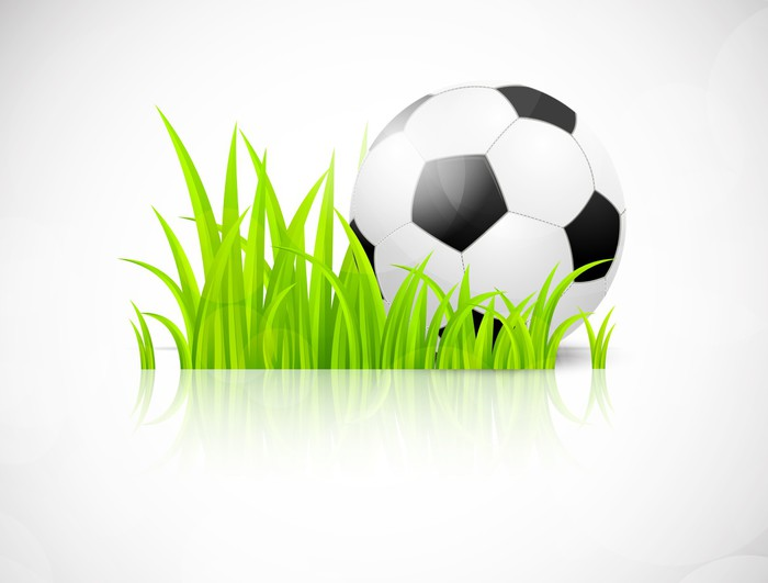 Fotomural Fondo con balón de fútbol • Pixers® - Vivimos para cambiar 2c134558122c9