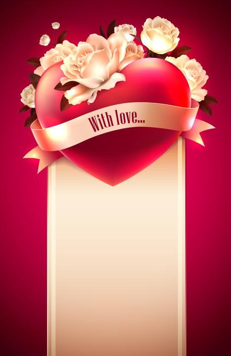 Vinylová Tapeta Valentýn přání - Mezinárodní svátky