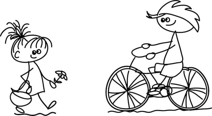 Vinylová fototapeta Sada doodle děti - Vinylová fototapeta