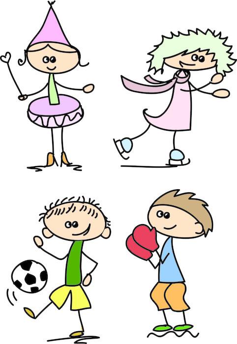 Vinylová Tapeta Sada doodle děti - Děti