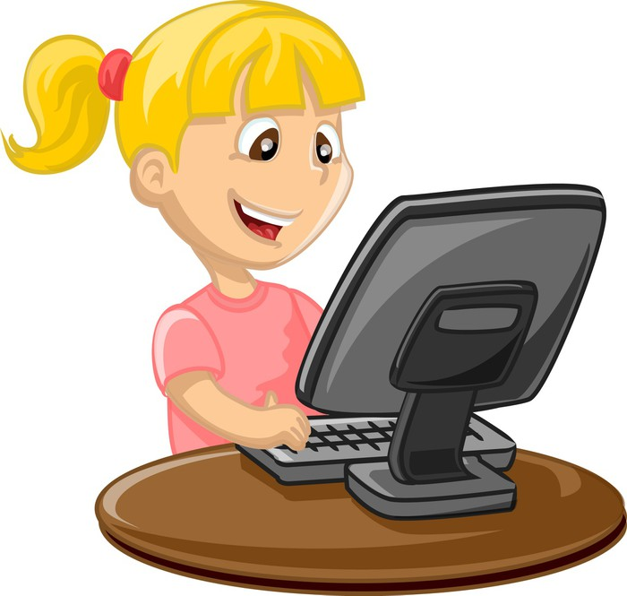 Papier peint motifs fille et ordinateur pixers nous for Papier peint pour ordinateur