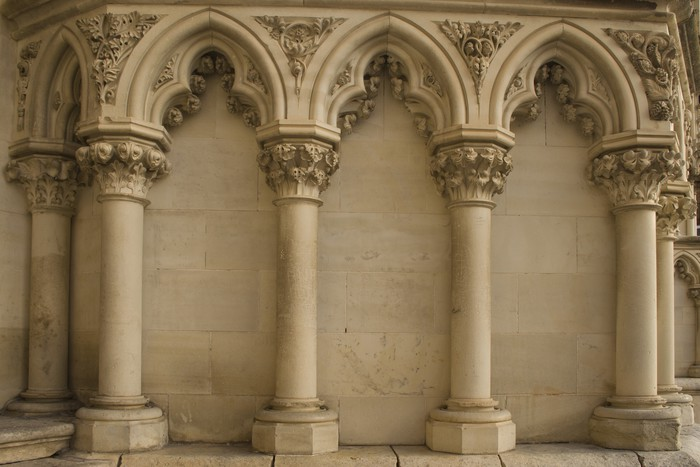 Fototapete Gotische Sulen Pixers Wir Leben Um Zu