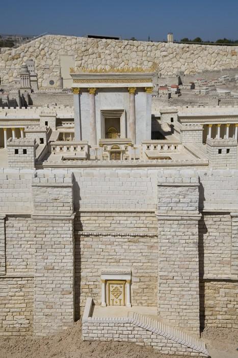 Nálepka Pixerstick Model druhého chrámu, Izraelského muzea - Střední Východ