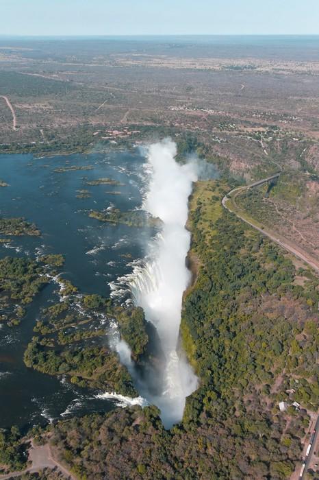 Vinylová Tapeta Victoria Falls vrtulník letecký pohled - Afrika
