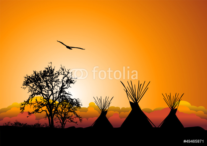 Tepee al tramonto wall mural pixers we live to change for Alabama wall mural