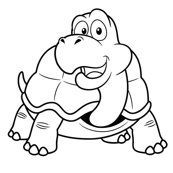 Vinilo Pixerstick Ilustración de la tortuga de dibujos animados ...