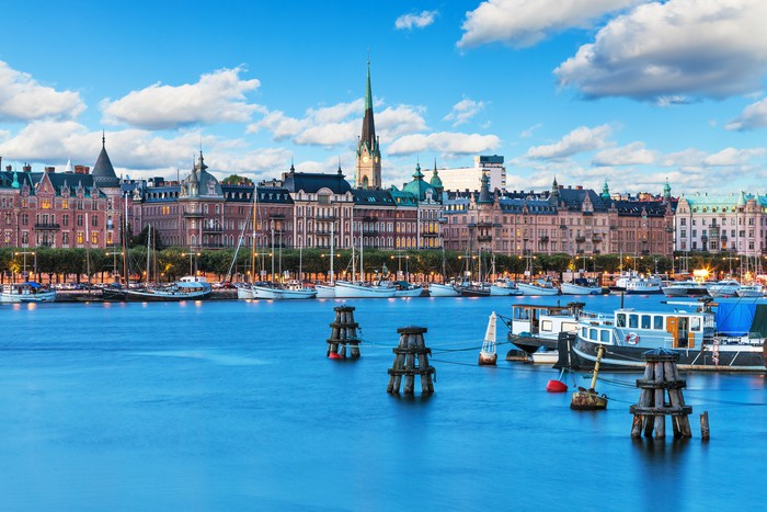 Vinylová Tapeta Old Town v Stockholm, Švédsko - Evropa