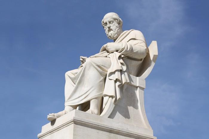 Vinylová Tapeta Socha filosofa Platóna v Aténách, Řecko - Evropská města