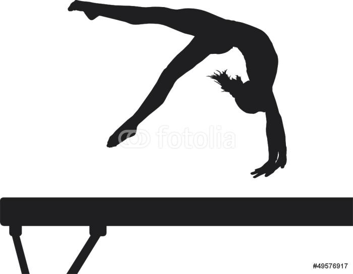 Vinylová Tapeta Balance Beam - Individuální sporty