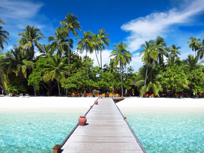 Vinylová Tapeta Lávka, Maledivy - Ostrovy