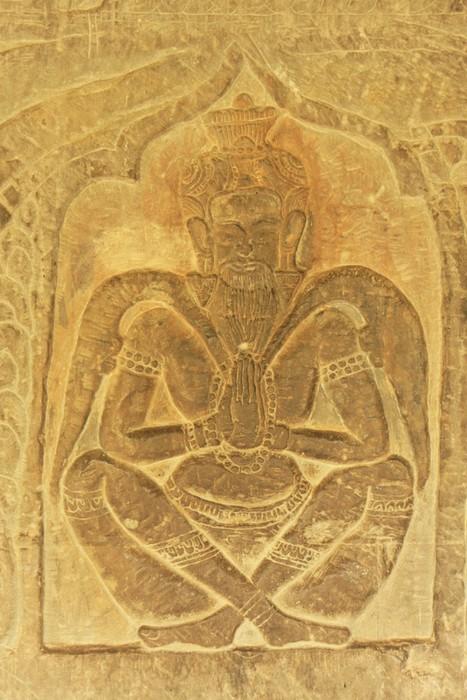 Wall bas-relief, Angkor Wat temple, Siem Reap, Cambodia Wall Mural ...