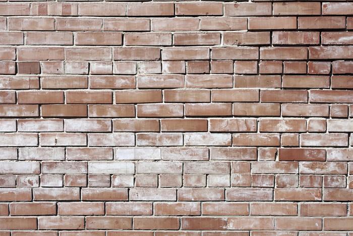 Vinylová Tapeta Vintage červené pozadí brickwall - Struktury
