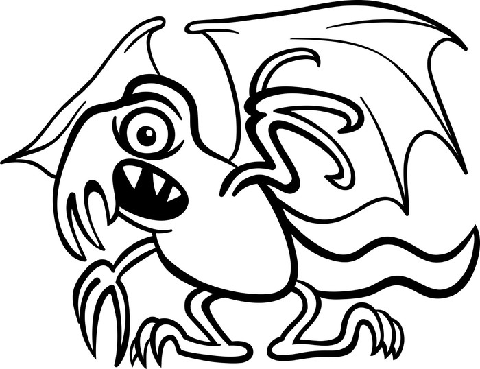 Vinilo Pixerstick Monstruo de dibujos animados basilisco para ...